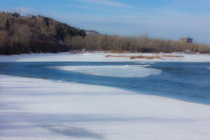 Frozen part of the river. Using Photoshop as a touch up.