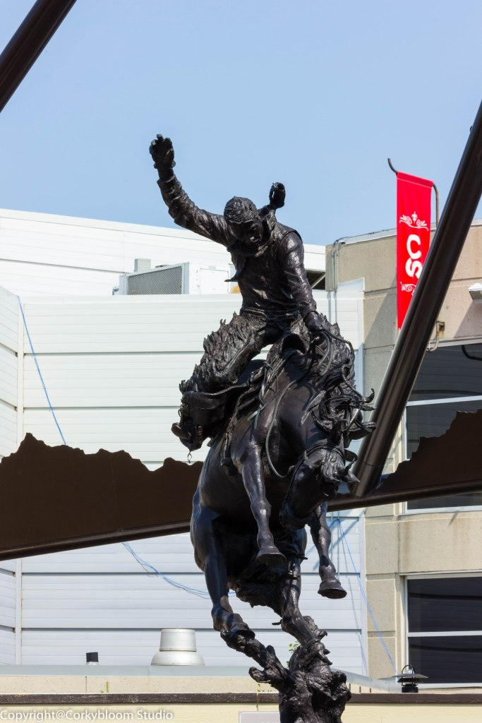 Statue in front of the Stampede